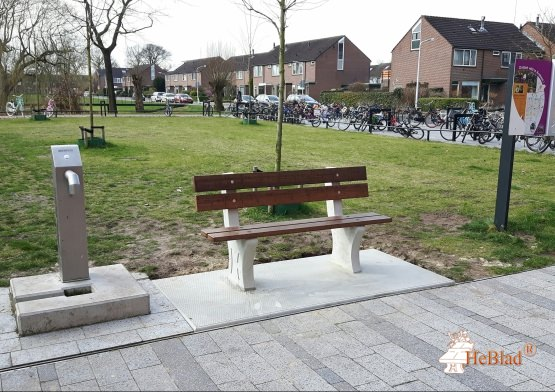 Park Bench with bottom plate Natural Concrete