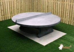 Round Ping-Pong table Anthracite-Concrete