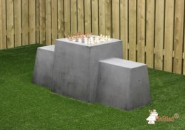 Chess Bench, Anthracite-Concrete