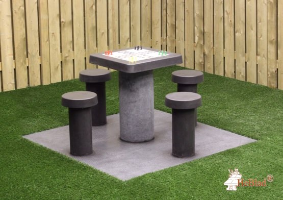 Ludo Table Anthracite-Concrete (4P)