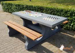 Multi Gaming table (1-3-2) Deluxe Anthracite-Concrete
