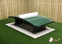 Concrete Foot Volleyball Table Green