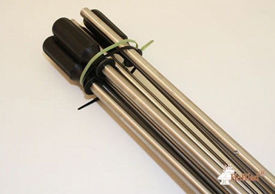 Set of solid rods for table football table 16 mm