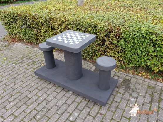 Chess Table Anthracite-Concrete (2P)