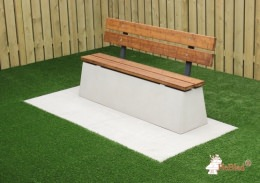 Concrete bench DeLuxe with backrest