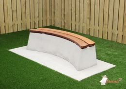 Concrete Bench DeLuxe Oval