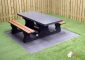 Picnic table DeLuxe Anthracite Wheelchair-accessible