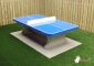 Blue concrete Ping-pong table rounded