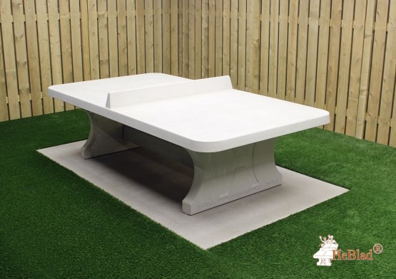 Ping-pong table rounded, Natural Concrete