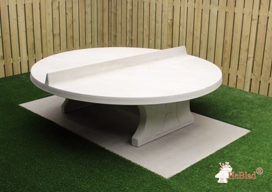 Round Ping-pong table in Natural Concrete