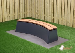 Concrete Bench DeLuxe Oval Anthracite