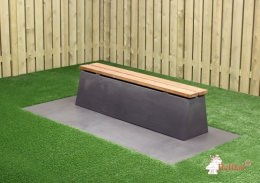 Bench DeLuxe Anthracite-Concrete
