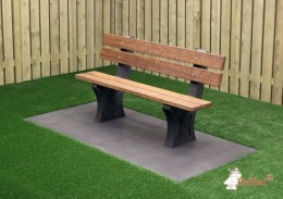 Park Bench, Anthracite-Concrete