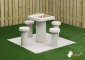 Concrete Chess Table, natural concrete, seats 4 people