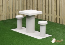 Picnic Table Compact Natural Concrete 2 persons