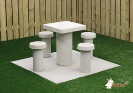 Picnic Table Compact Natural Concrete 4 persons
