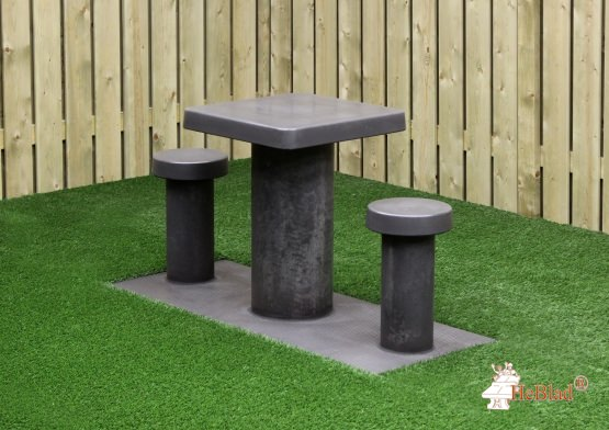 Game Table Anthracite-Concrete (2P)