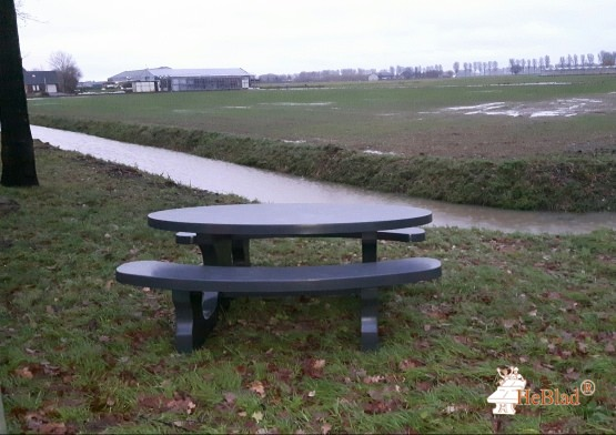 Concrete Picnic table Standard Oval Anthracite