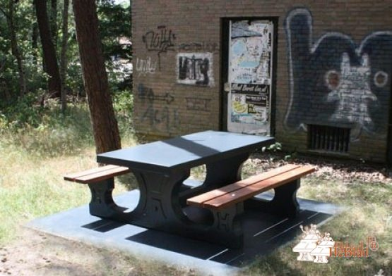 Bottom plate Picnic table Anthracite-Concrete