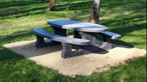 Picnic set Standard Anthracite Concrete Oval